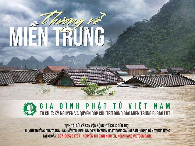 Tâm thư tổ chức kỳ nguyện và quyên góp cứu trợ đồng bào miền Trung bị bão lũ